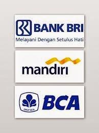 logo bank bca,mandiri dan bri